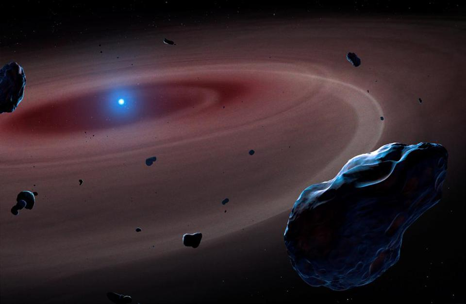 Artist's illustration of a white dwarf system emerging after the death of a Sun-like star.