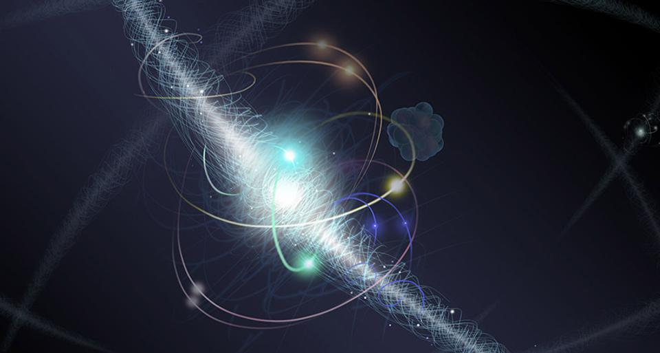 Electron transitions govern the emission and absorption of photons in atoms.