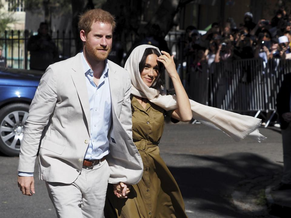 Prince Harry and Meghan Markle in Cape Town, Africa in September 2019.