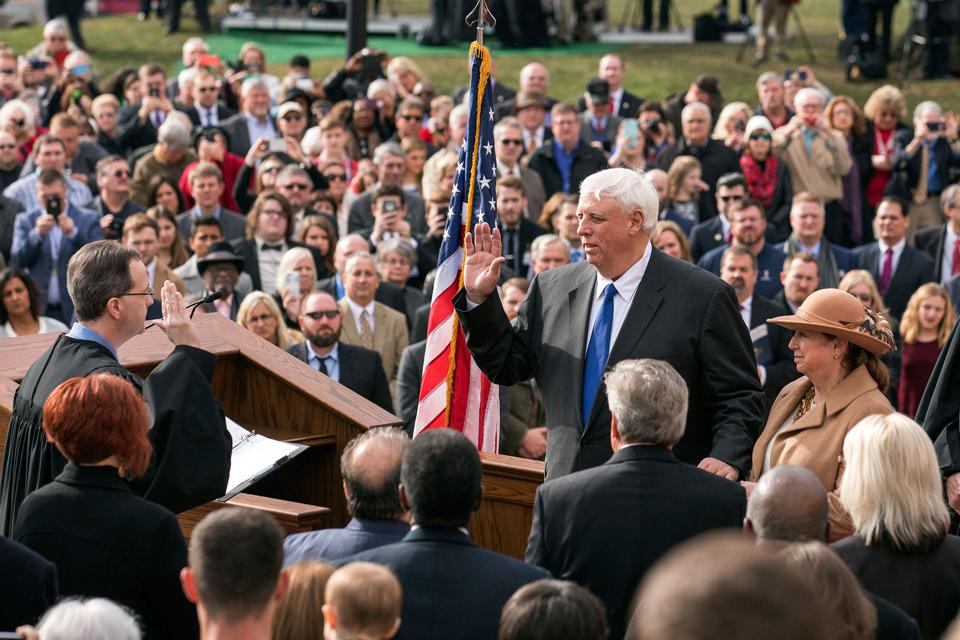 Jim Justice getting sworn in