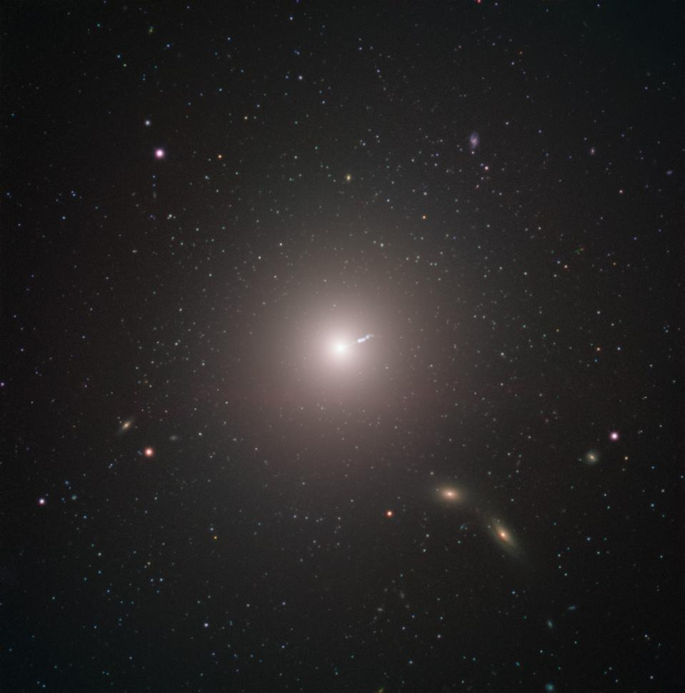 M87, at the center of the Virgo cluster, is the most massive galaxy in our neighborhood.