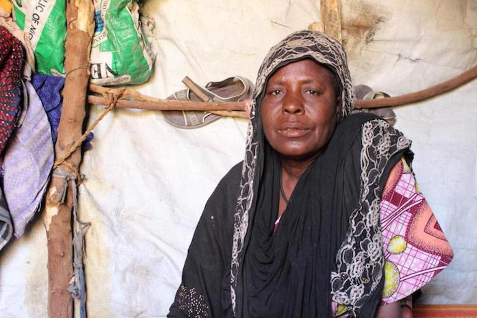 Boko Haram fighters attacked Hadiza Garba's village, killing her husband and abducting three of her sons.