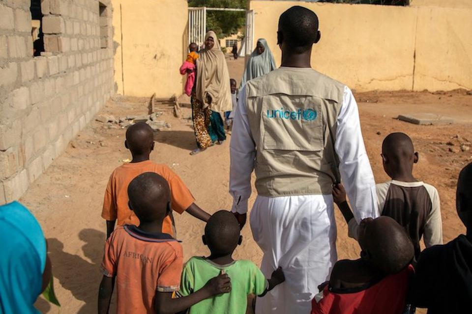 UNICEF works closely with the Borno State Ministry of Women Affairs and Social Development and partners to support children who have been rescued or have escaped from captivity.