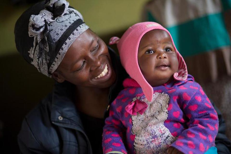 Siphiwe Khumalo, 37, and her baby daughter, Lundiwe, in South Africa.