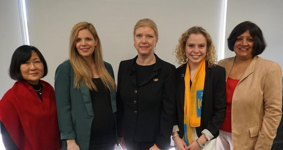 Panelists at the Making It Stick parallel event during the Commission on the Status of Women in March 2019.