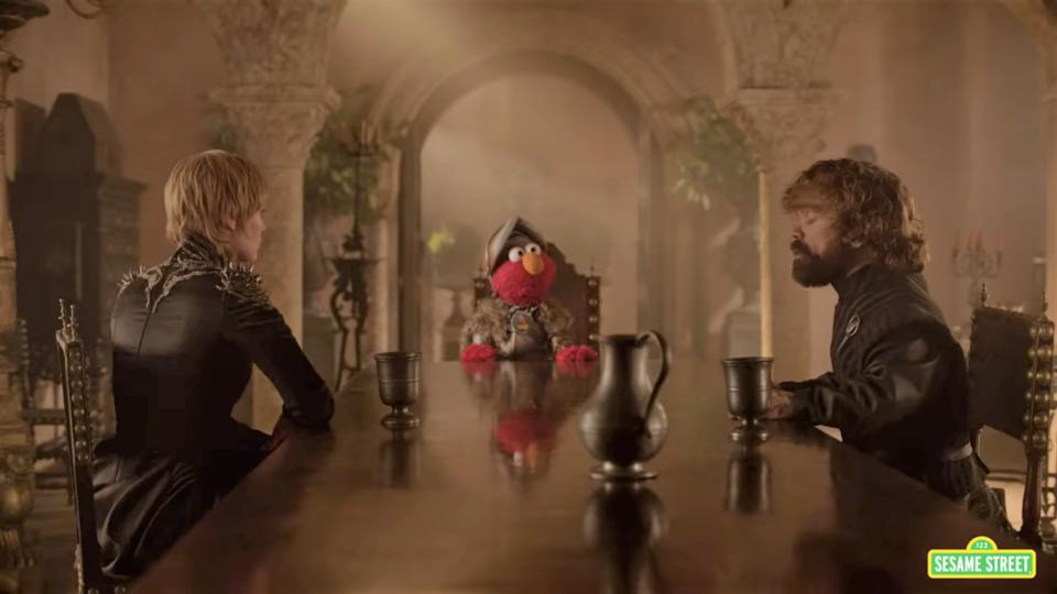 Elmo Teaches Tyrion And Cersei Some Respect In This Adorable 'Game of Thrones' Sesame Street Sketch