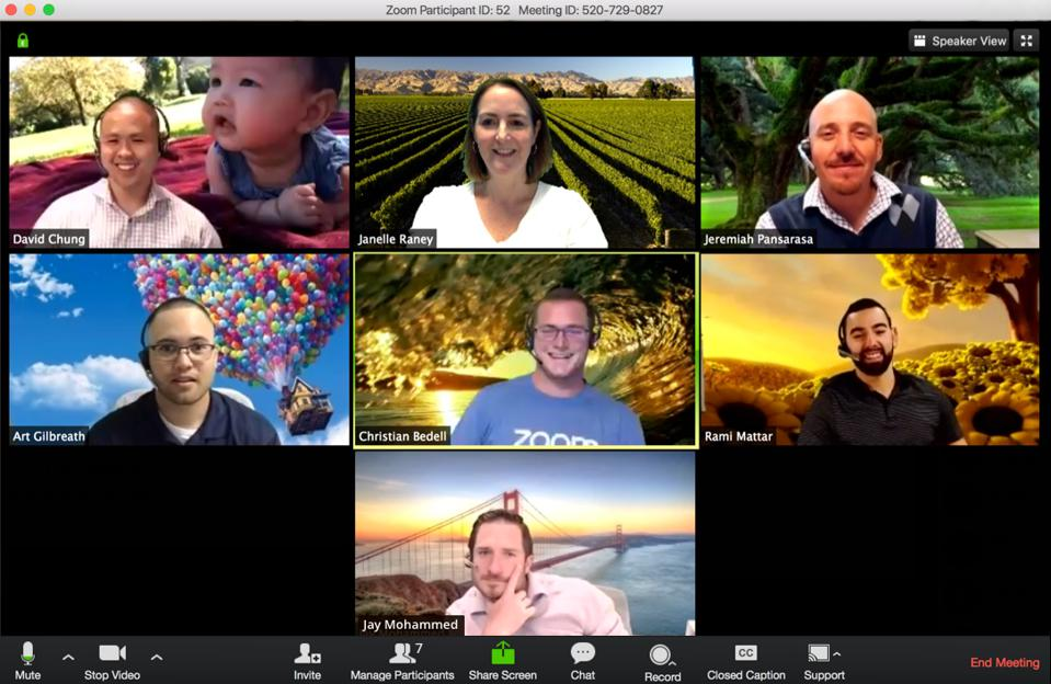 Zoom's virtual backgrounds are a key feature to its video conferencing tools.