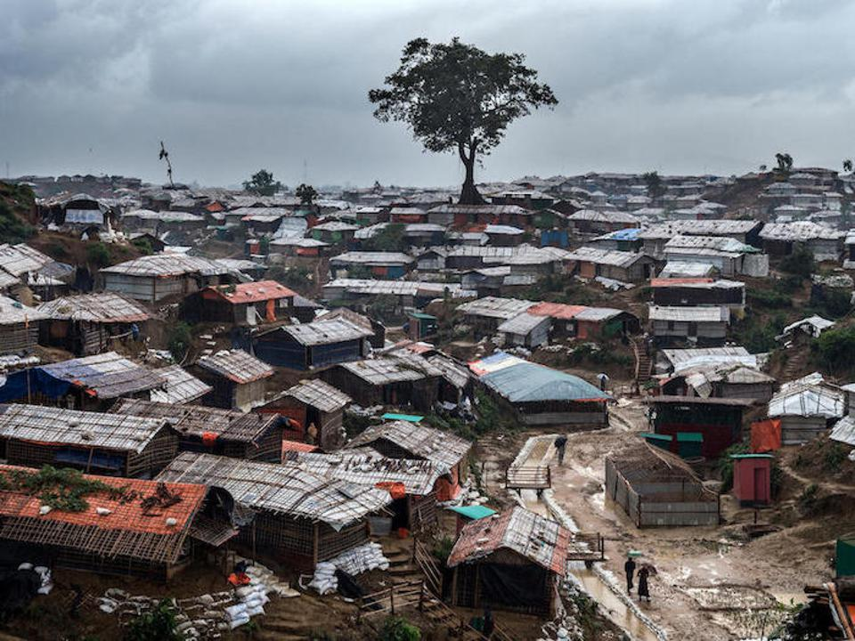 Deforestation has left Rohingya refugee camps like Kutupalong in Cox's Bazar vulnerable to erosion and landslides during monsoon flooding.