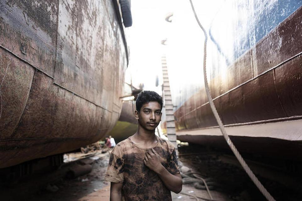 Sixteen-year-old Mohamed Shajib came to find work in Dhaka, Bangladesh after flooding swept away his family's home.