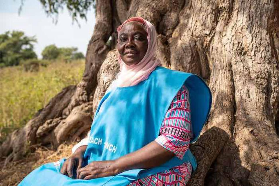 Hajiya Marufat Yusuf is a nurse-midwife who leads a UNICEF-supported mobile clinic in Nigeria.
