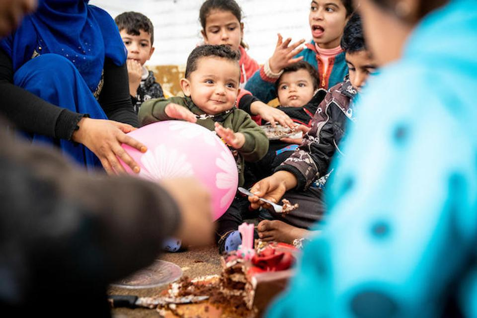 There were lots of guests on hand to help Mohammad celebrate his first birthday.