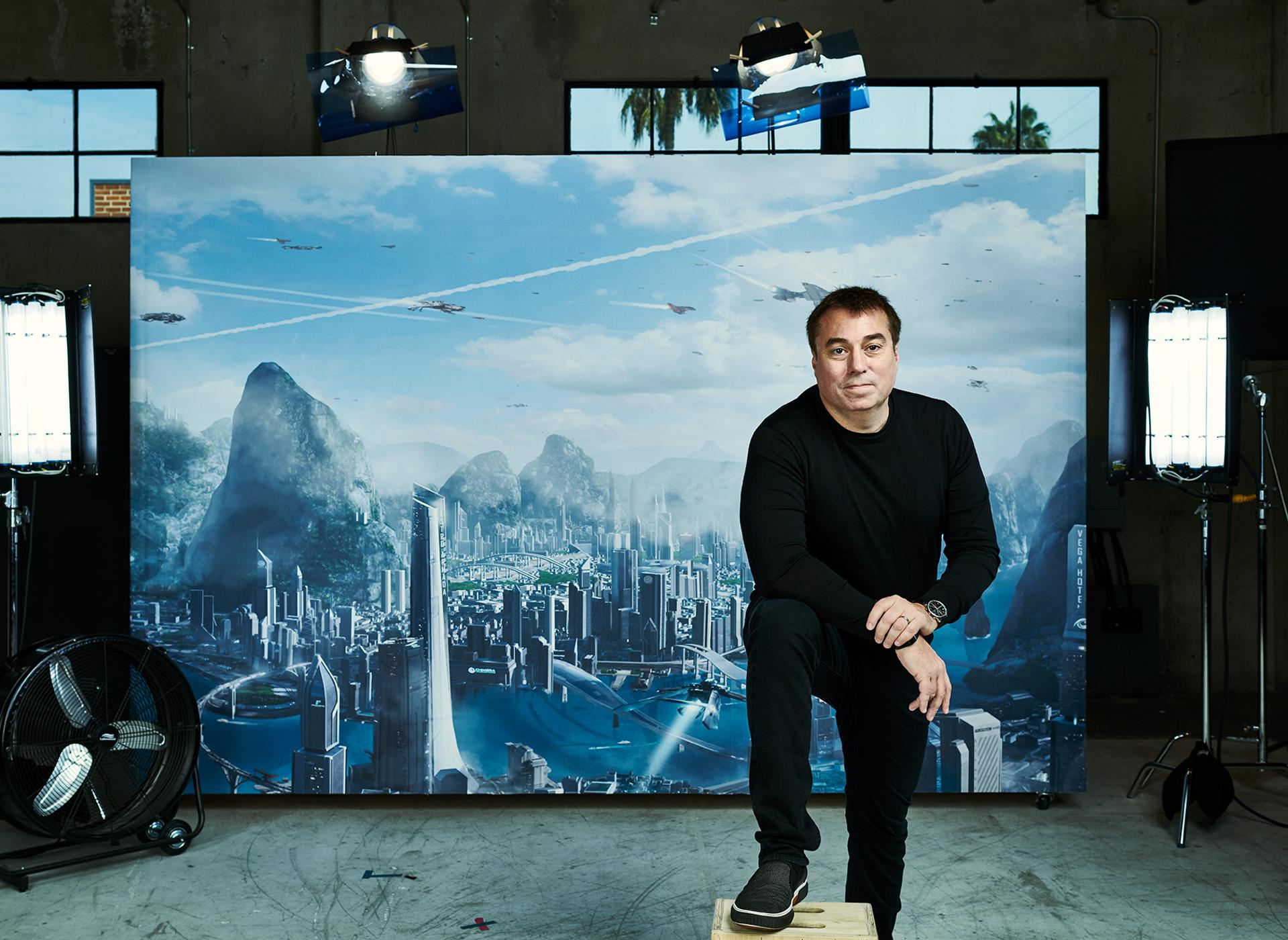 Chris Roberts at his studio
