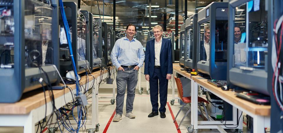 Ric Fulop and Ely Sachs of Desktop Metal, one of the 3-D printing companies attracting venture-capital