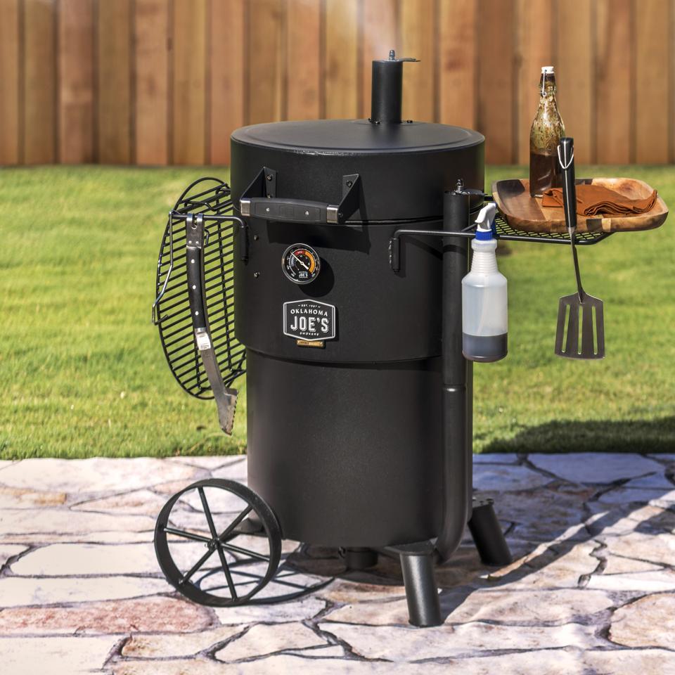 Oklahoma Joe's new Bronco drum smoker.