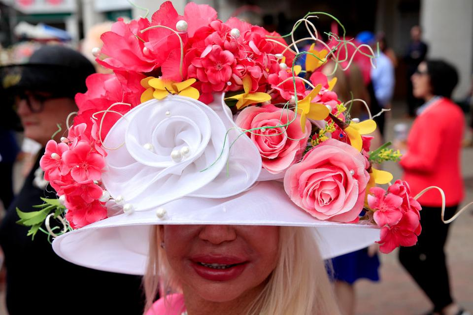Red rose fascinator for Kentucky Derby