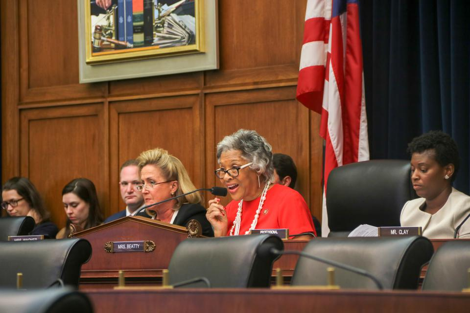 Congresswoman Joyce Beatty speaks at the Congressional hearing.
