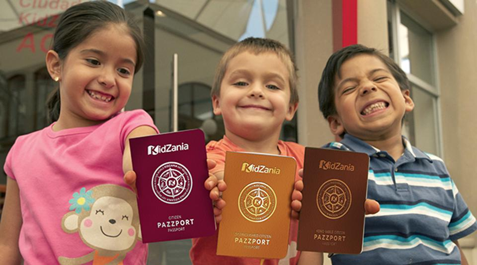 "After passing through a security scan, kids can visit the immigration office and obtain ""pazzports.″"
