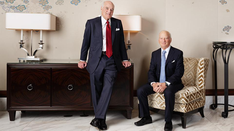 KKR's co-founders Henry Kravis and George Roberts.