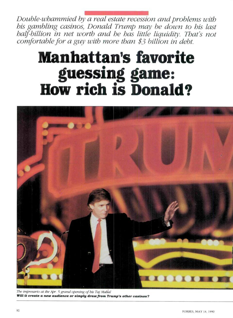 Donald Trump tax returns expose forbes