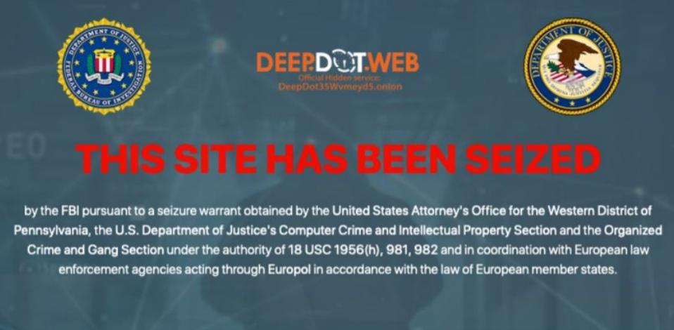 FBI DeepDotWeb seizure
