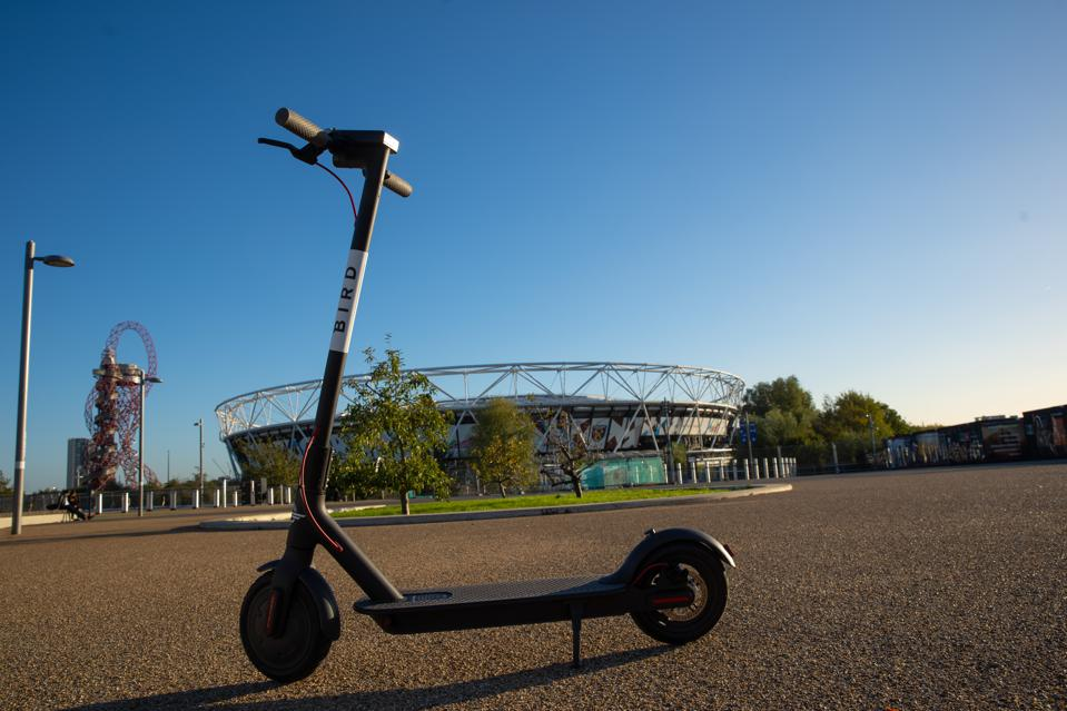 Bird scooter at the London Olympic Park.