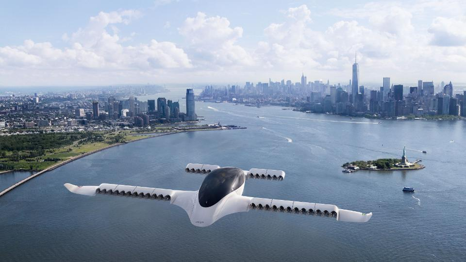 Lilium says its piloted electric aircraft will be able to carry four passengers and their luggage 186 miles at 186 mph.