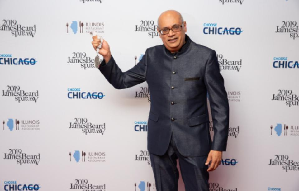 Vishwesh Bhatt at the James Beard Awards.