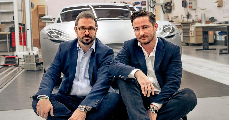 Dynamic Duo: Inspired by sports cars from the '60s and '70s, company cofounders Anton Piëch (left) and Rea Stark Rajcic aim to build classic performance automobiles that are anything but retro.