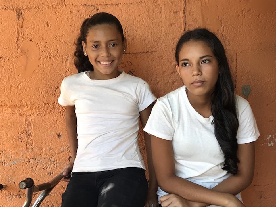 These girls attend the Miguel Paz Barahona School, in Bonitillo neighborhood of La Ceiba, where there has recently been so much gang violence that children were afraid to go to school.