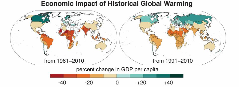 Economic Impact of Historical Global Warming from 1961 to 2010