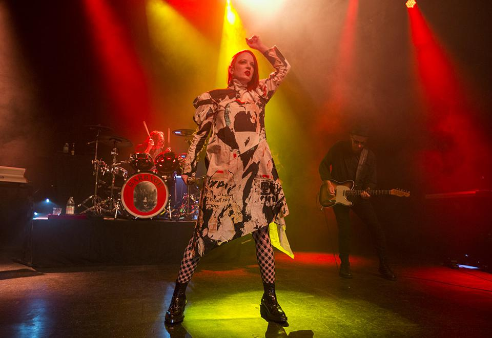 Garbage performs on stage in Chicago at the Riviera Theatre during the Face The Music Foundation benefit concert. Monday, May 20, 2019 (Photo by Barry Brecheisen)