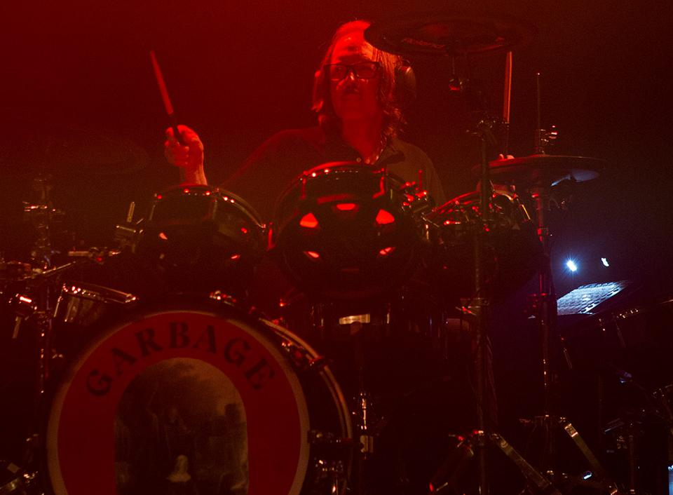 Garbage drummer and producer Butch Vig performs during the Face The Music Foundation benefit concert in Chicago. Monday, May 20, 2019 at the Riviera Theatre (Photo by Barry Brecheisen)
