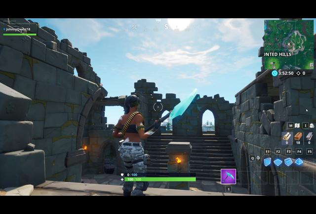 'Fortnite' Fortbyte #50 Location: Accessible At Night Time Inside Mountain Top Castle Ruins