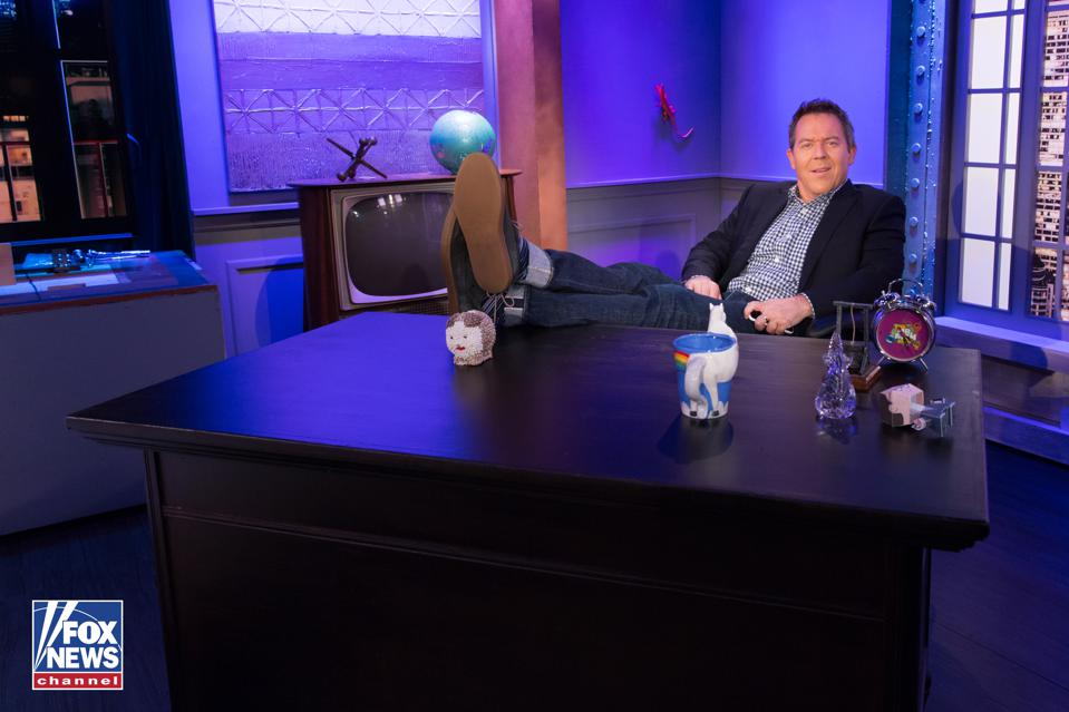 Greg Gutfeld in his studio in New York