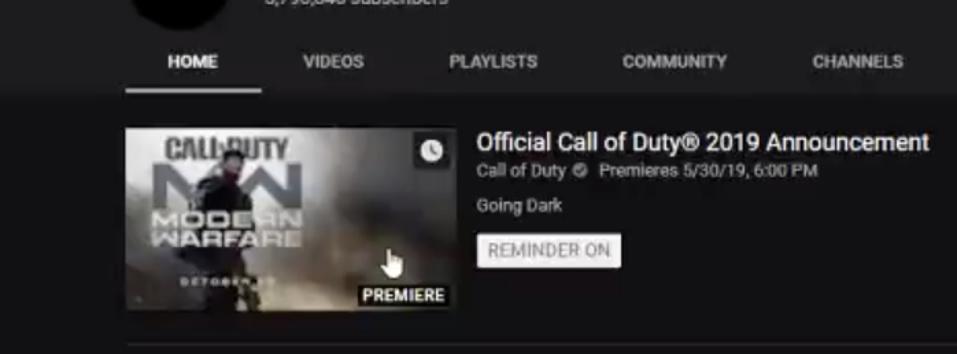 Call Of Duty Youtube Channel Leaks Key Art Possible Release Date