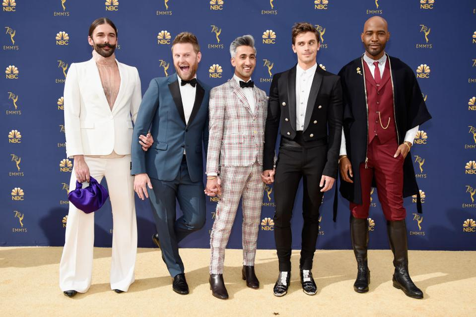 Netflix's Fab Five attend the 70th Annual Emmy Awards in September 2018.