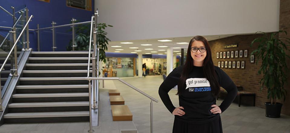 Jazmine Richison in CCBC tshirt.