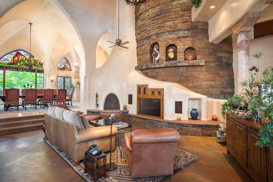 The living room in John Hendrick's home.