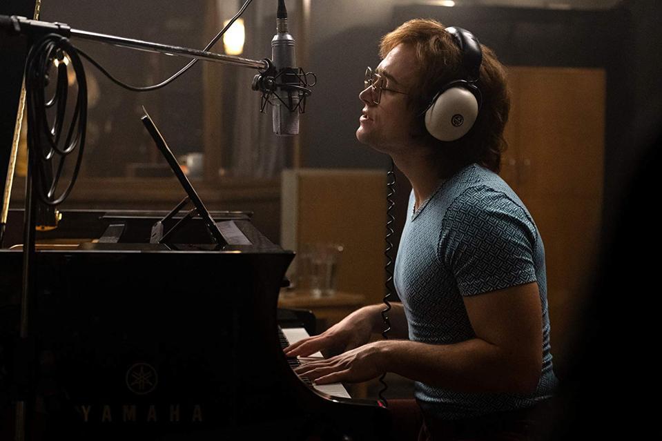 Taron Egerton as Elton John in ″Rocketman.″