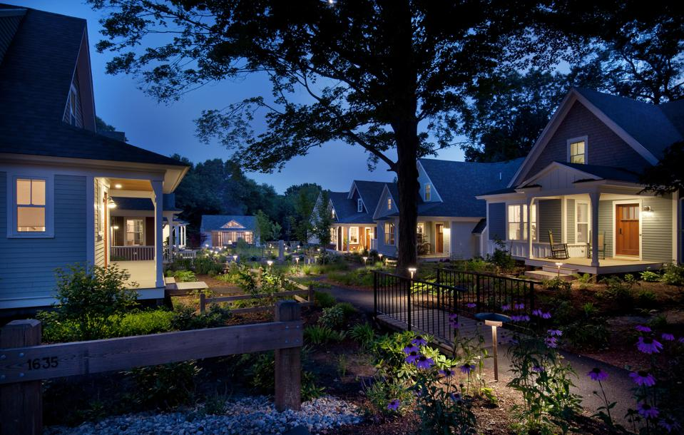 This pocket community in Concord, MA is made up of 13 cottages.