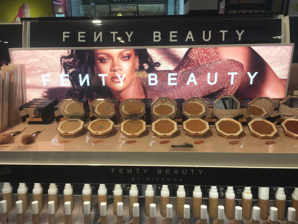 A Fenty Beauty by Rihanna display at a Sephora store in Paramus, N.J.