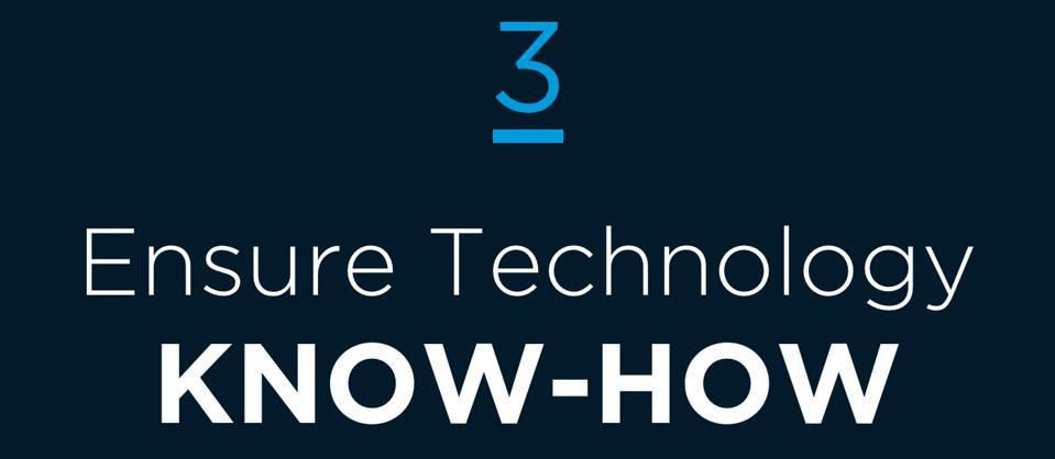 3 Garantire il know-how tecnologico