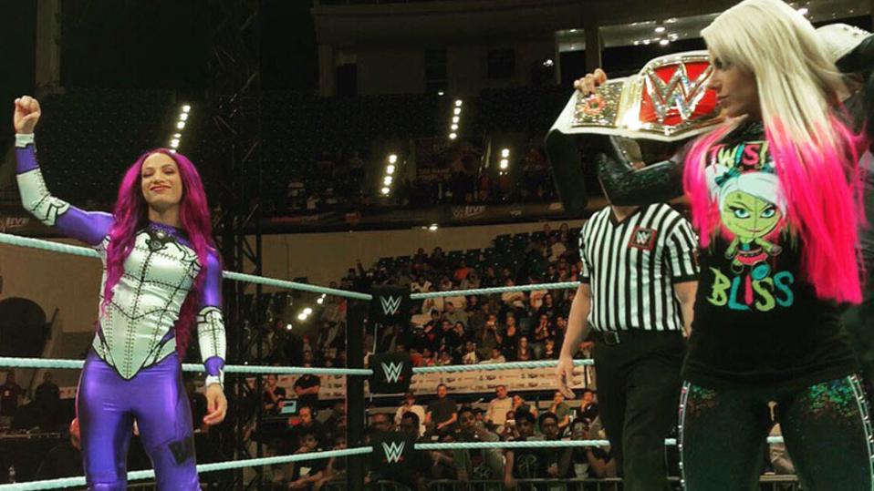 Alexa Bliss Sasha Banks WWE Abu Dhabi Saudi Arabia Super ShowDown