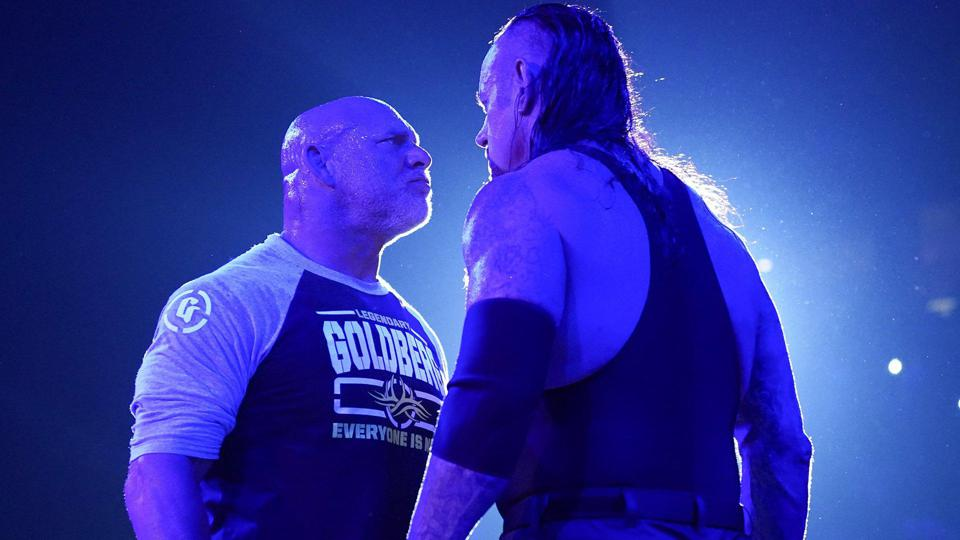 Undertaker Goldberg WWE Super ShowDown 2019.