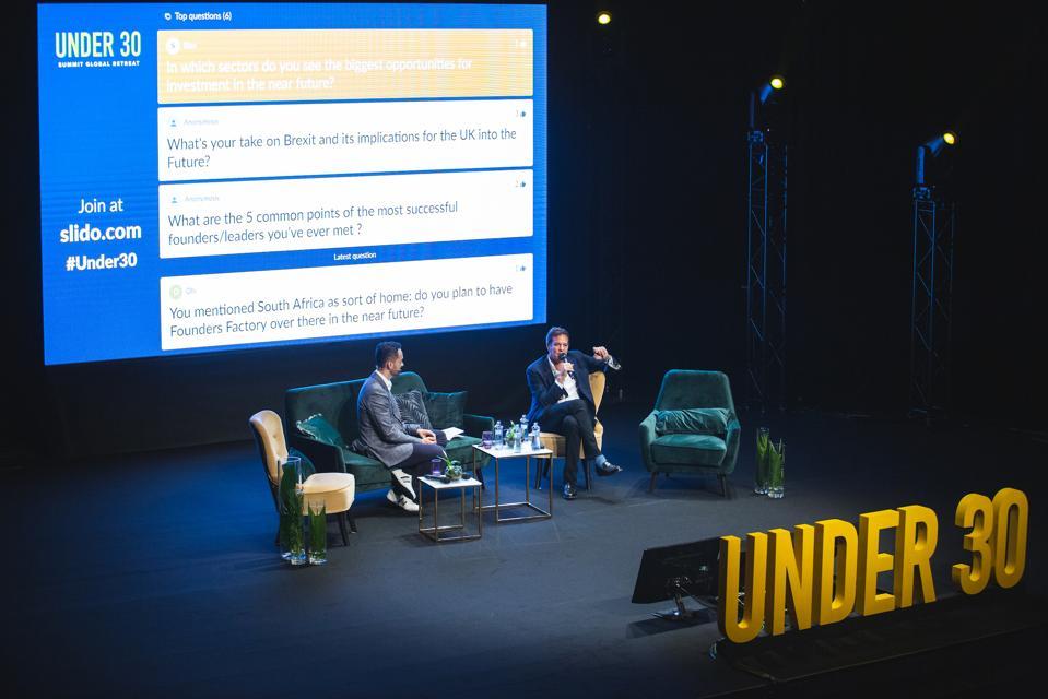 Brent Hoberman & Alex Wood at Forbes Under 30 Global Retreat Bratislava