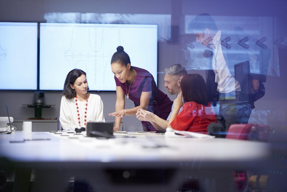 group of people having business meeting
