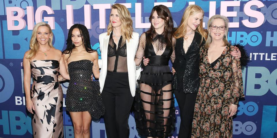 NY Premiere of HBO's ″Big Little Lies″ Season 2 Reese Witherspoon, from left, Zoe Kravitz, Laura Dern, Shailene Woodley, Nicole Kidman and Meryl Streep attend the premiere of HBO's ″Big Little Lies″ season two at Jazz at Lincoln Center on Wednesday, May 29, 2019, in New York.