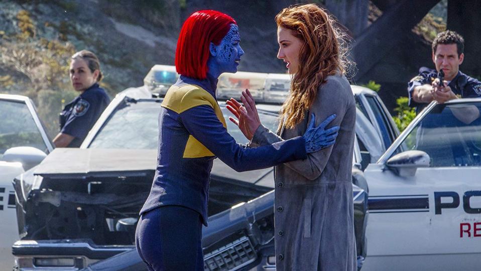 Jennifer Lawrence and Sophie Turner in 'Dark Phoenix'