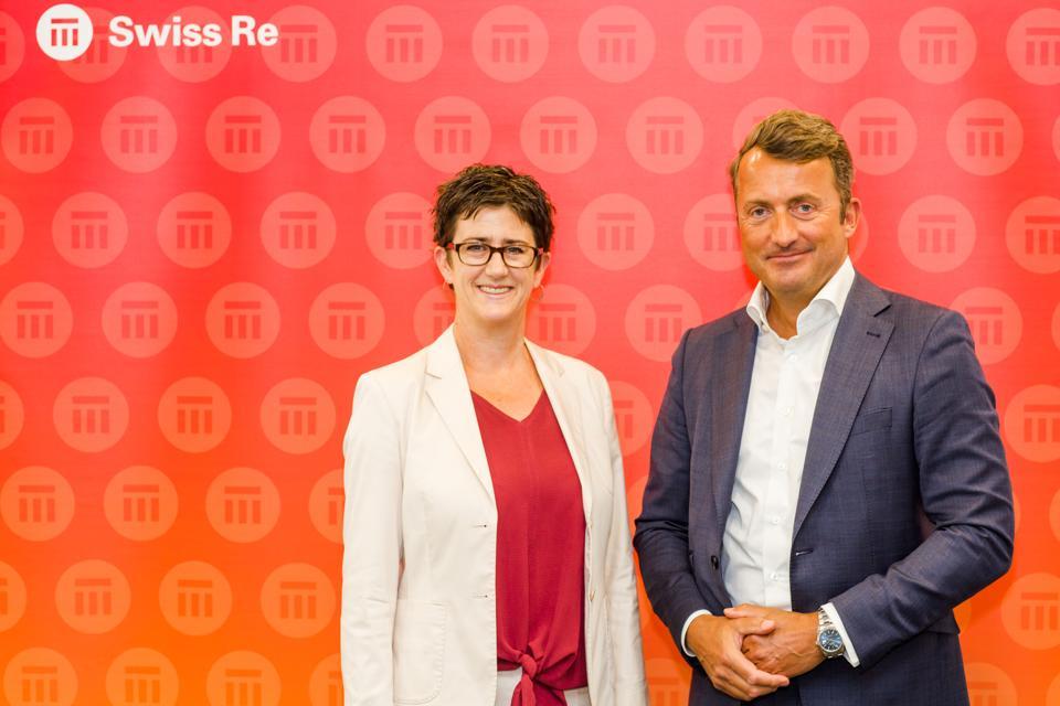 Gillian Rutherford-Liske and Gerhard Lohmann of Swiss Re