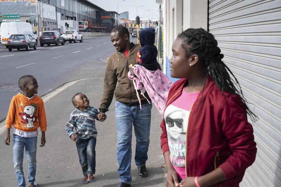 Congolese refugee Dieu-Merci Matala, 44, is raising his family in Cape Town, South Africa with support from UNICEF and Sonke Gender Justice.